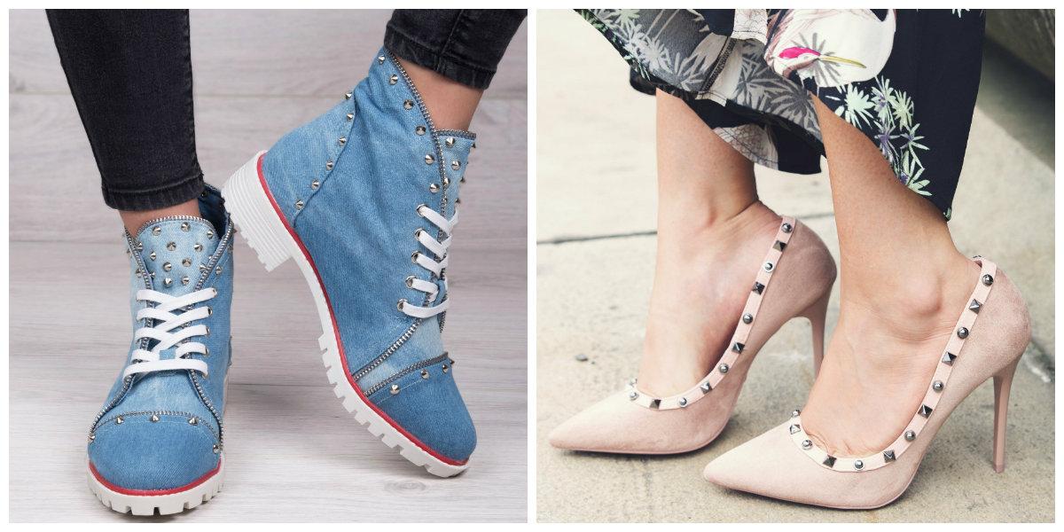 modne buty z ćwiekami