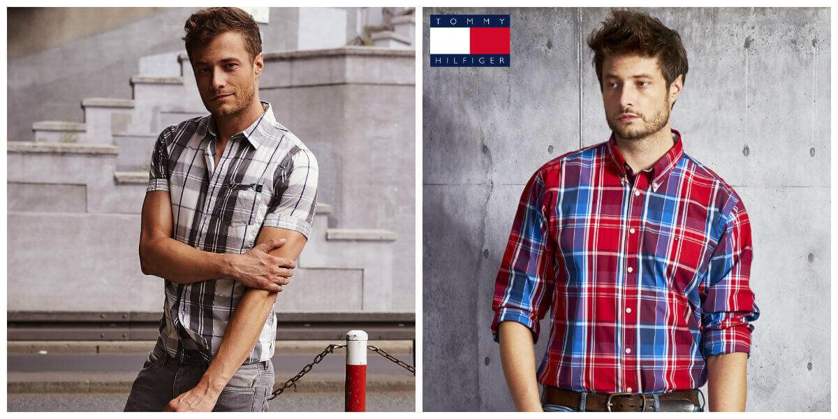 męskie koszule w kratę