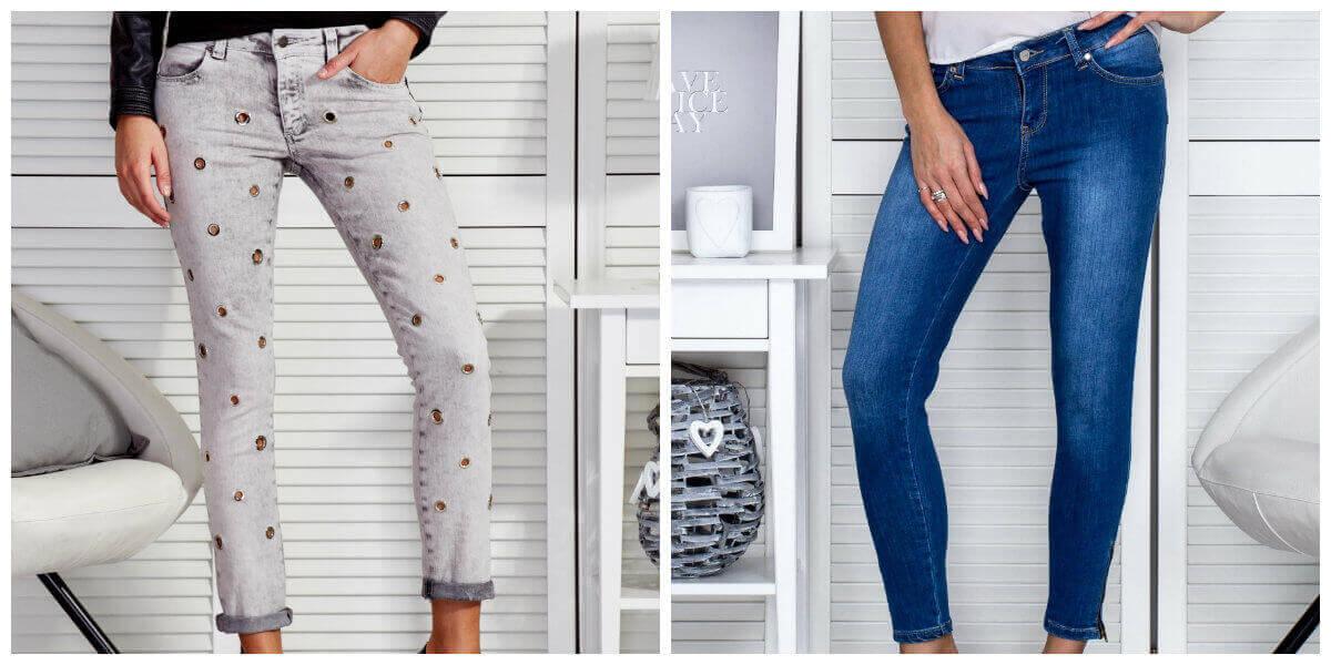 modne jeansy damskie