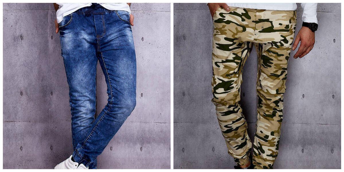 modne joggery męskie spodnie