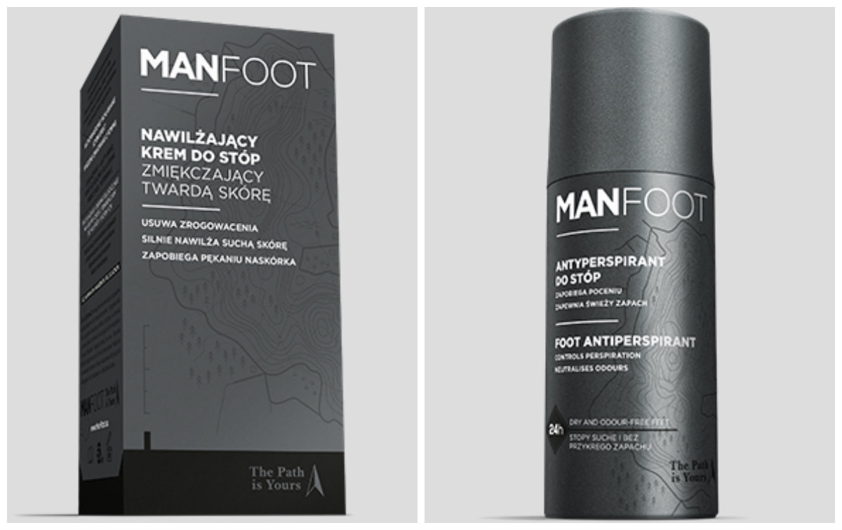 manfoot męskie kosmetyki do stóp