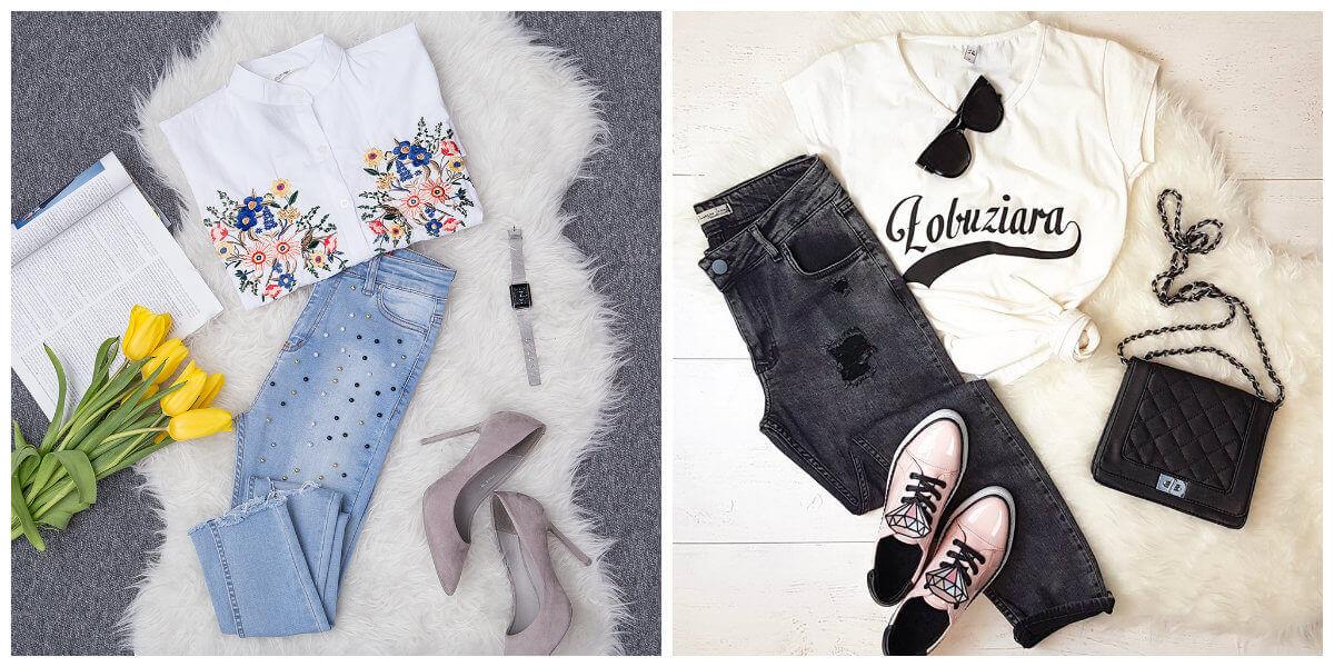 jeansy damskie stylizacje