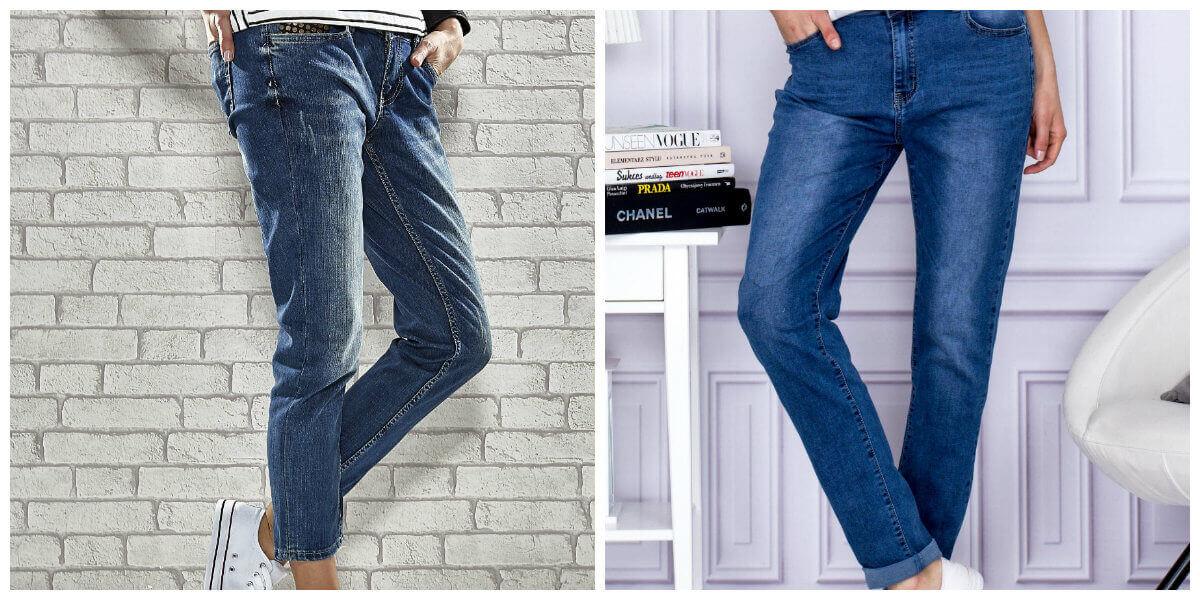 spodnie mom's jeans