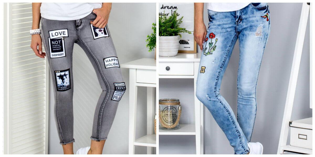 modne spodnie jeansy
