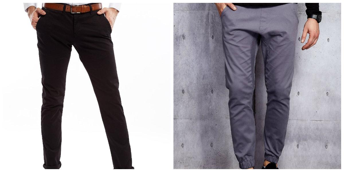 męskie spodnie z materiału
