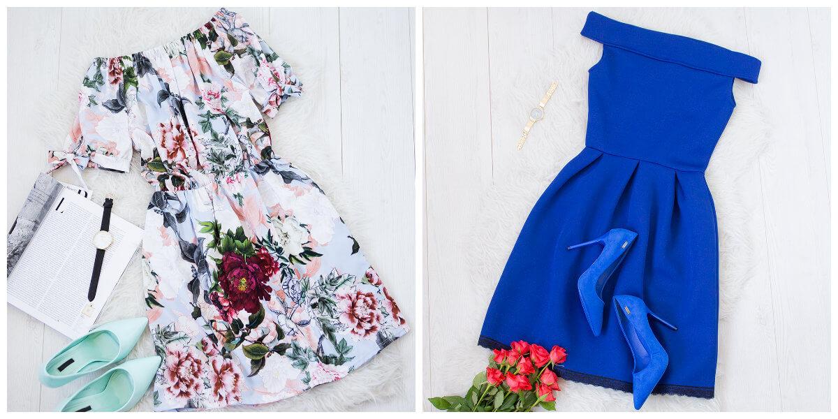 sukienki hiszpanki rozkloszowane