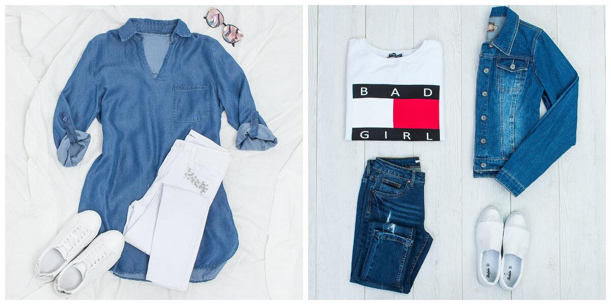 jeans w stylizacjach