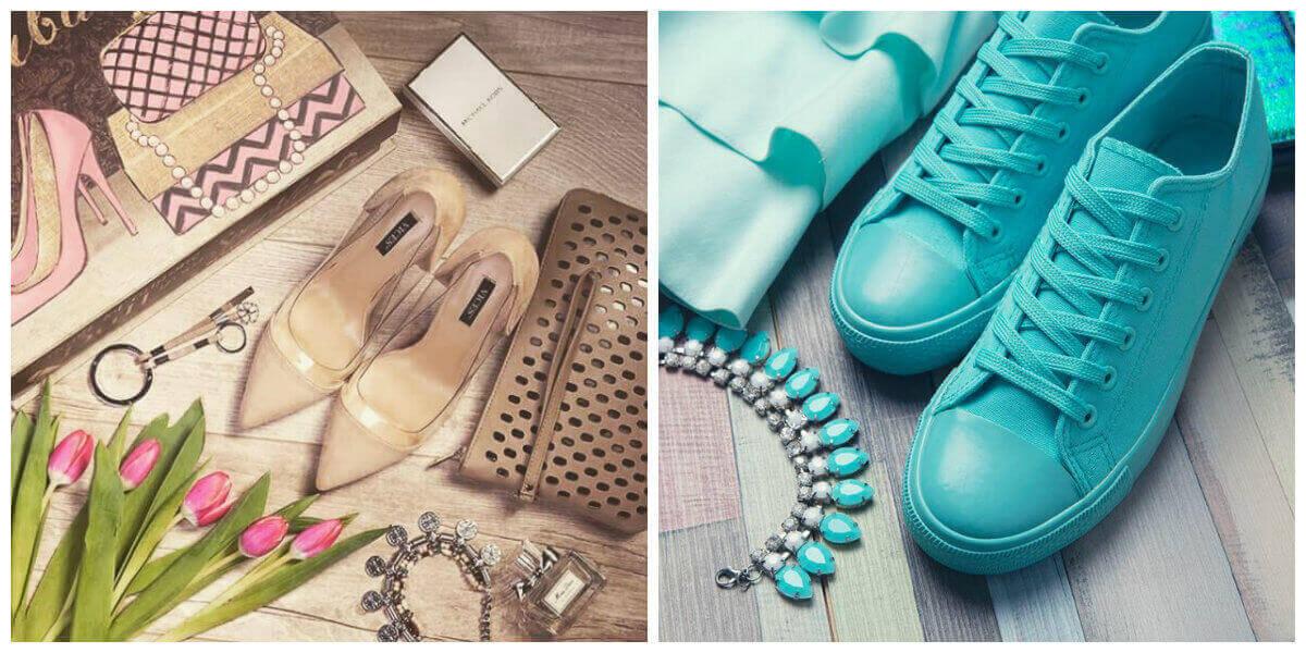 biżuteria w kolorze butów