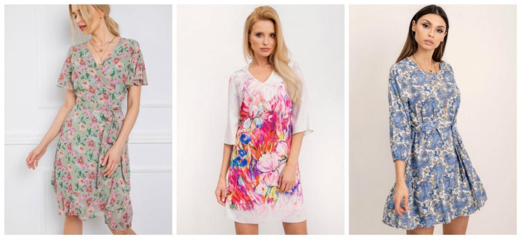 sukienki w kwiaty na wiosnę 2020