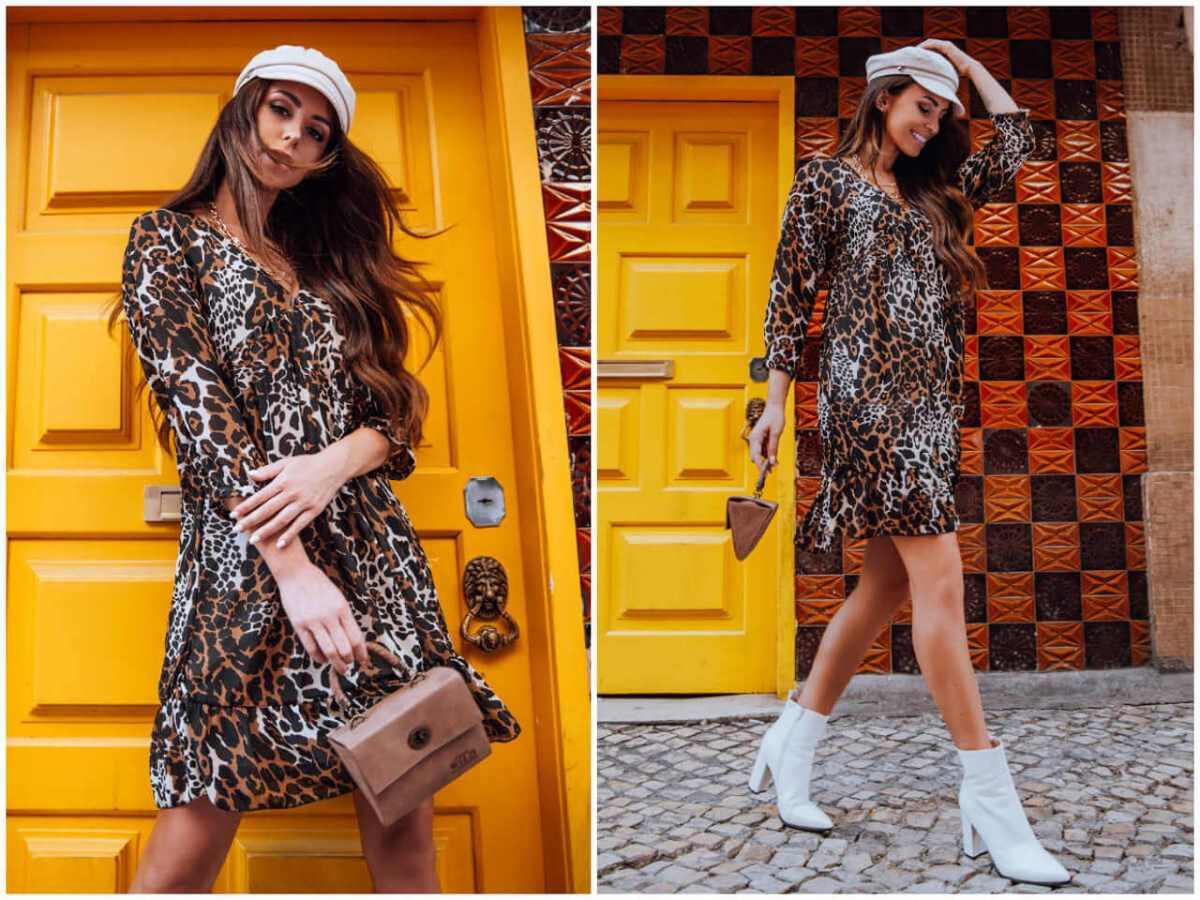 wzorzyste sukienki w zwierzęce printy w sklepie ebutik.pl