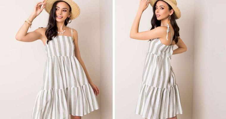 Sukienka w paski na wiosnę