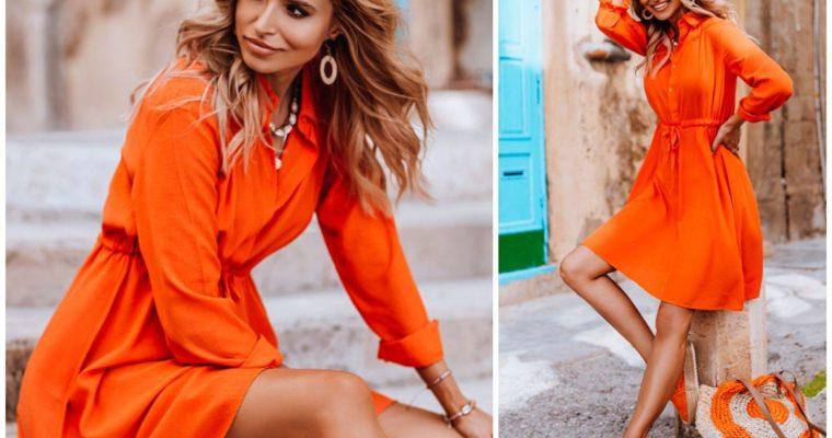 Sukienka koszulowa w różnych stylizacjach