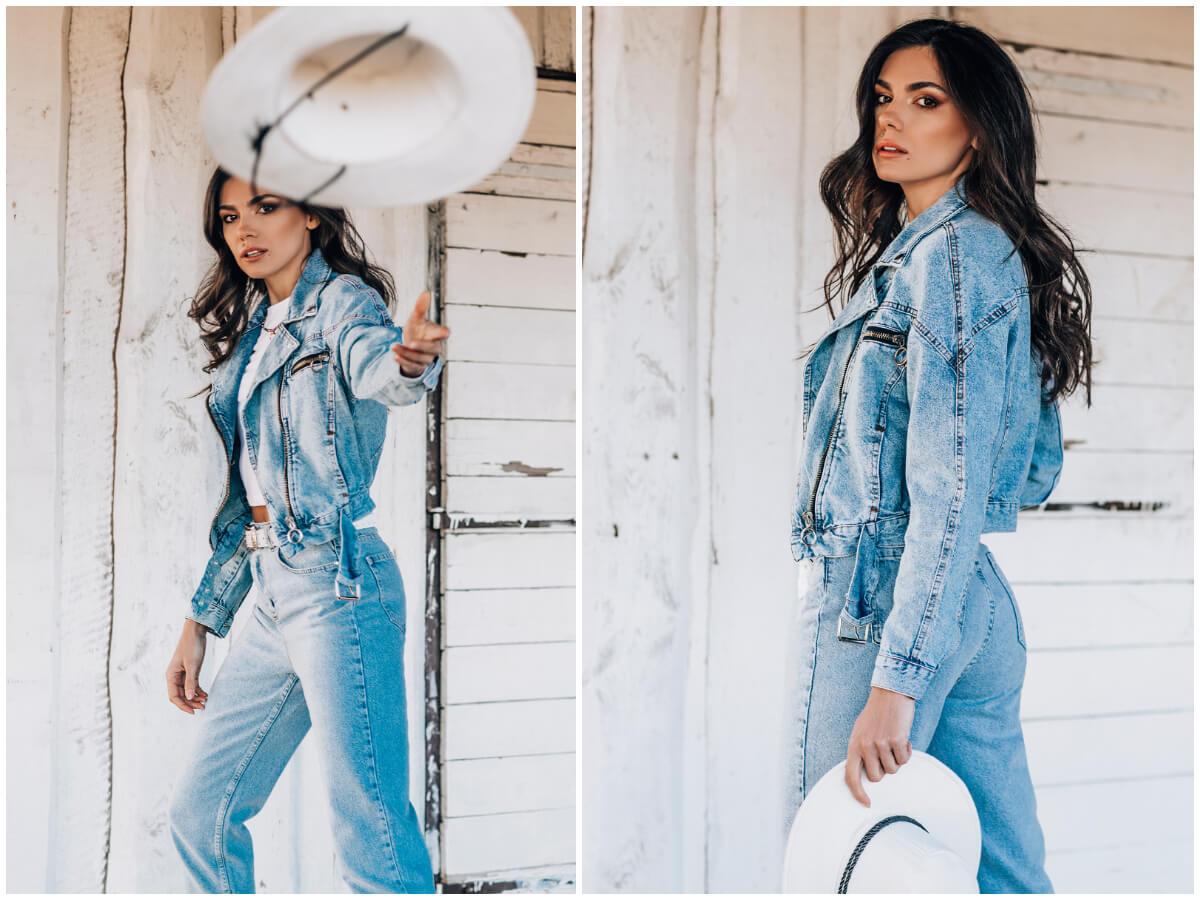 kurtka jeansowa plus jeansy ze sklepu ebutik.pl to właśnie modny denim