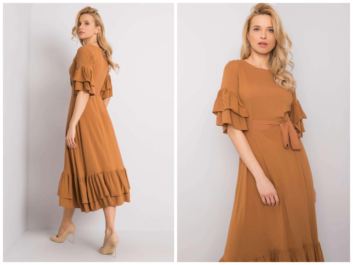 sukienka dla gruszki z falbanami w sklepie ebutik.pl