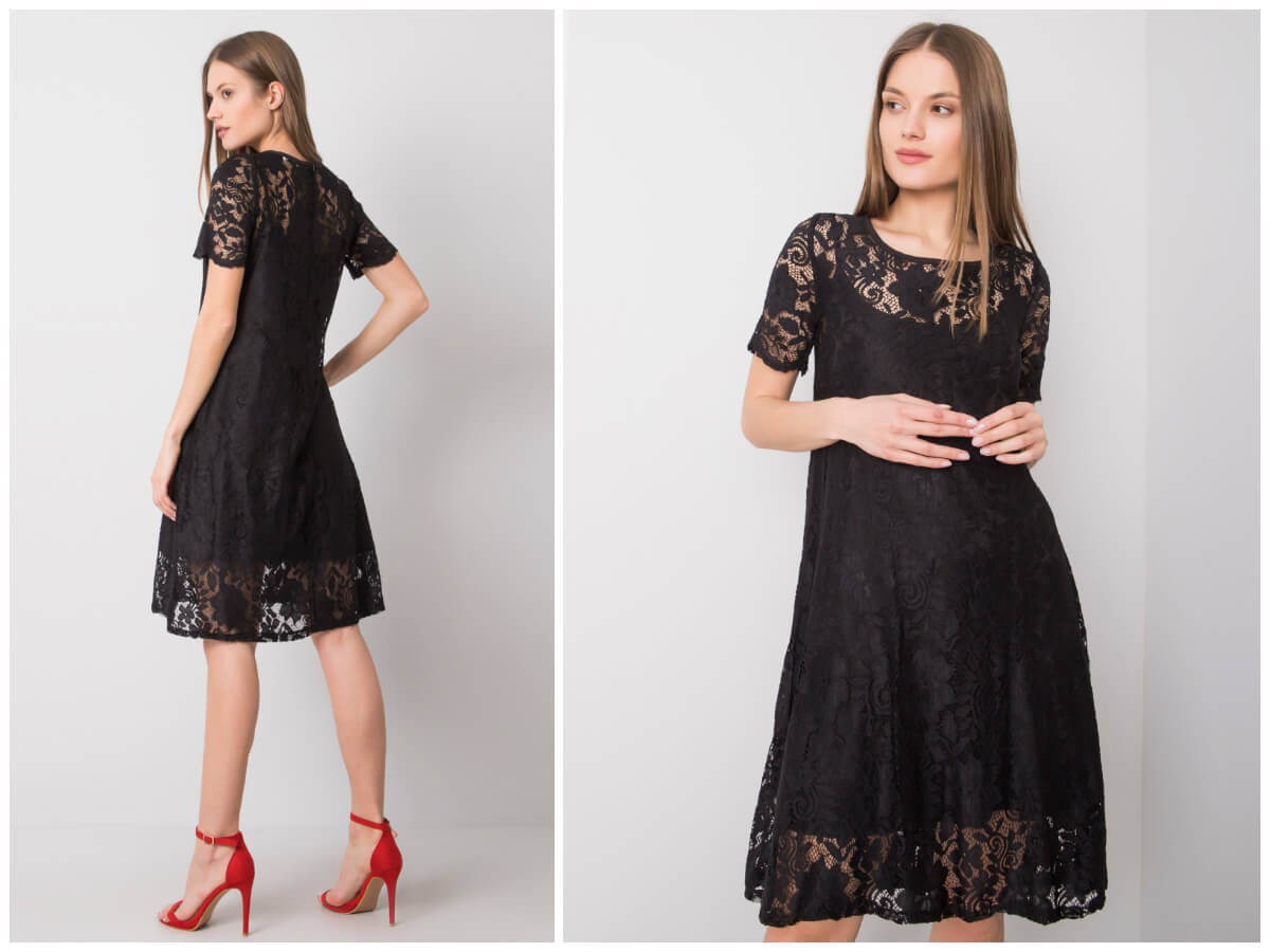 czarna sukienka koronkowa ze sklepu ebutik.pl