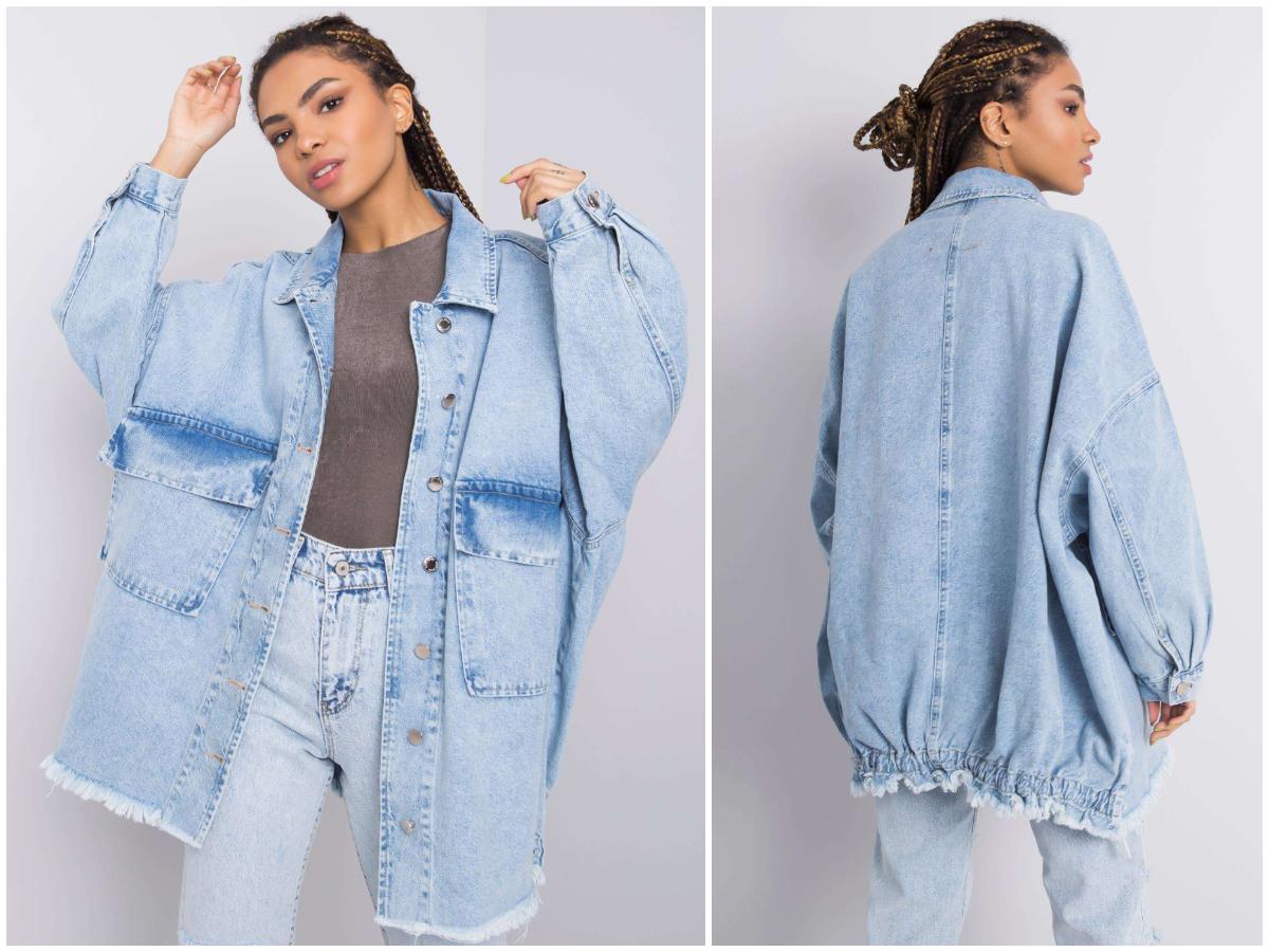 kurtka koszulowa oversize z jeansu z kolekcji ebutik.pl w stylizacji