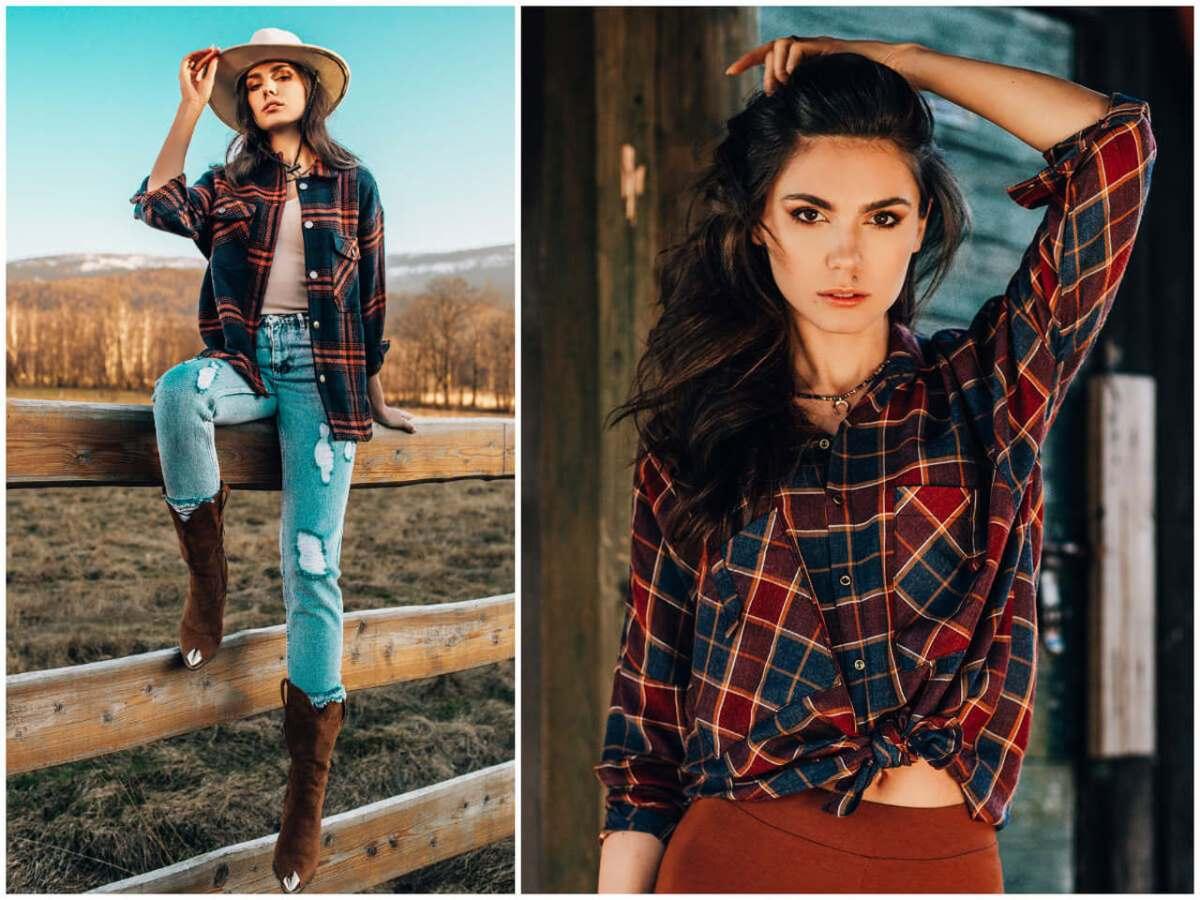 koszula w kratę to styl country ze sklepu  ebutik.pl
