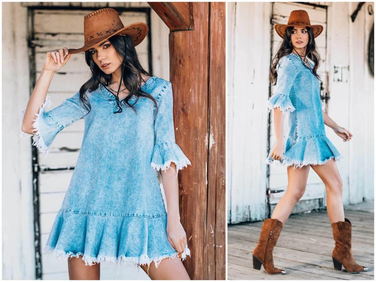 styl country tworzy też sukienka jeansowa ze sklepu ebutik.pl