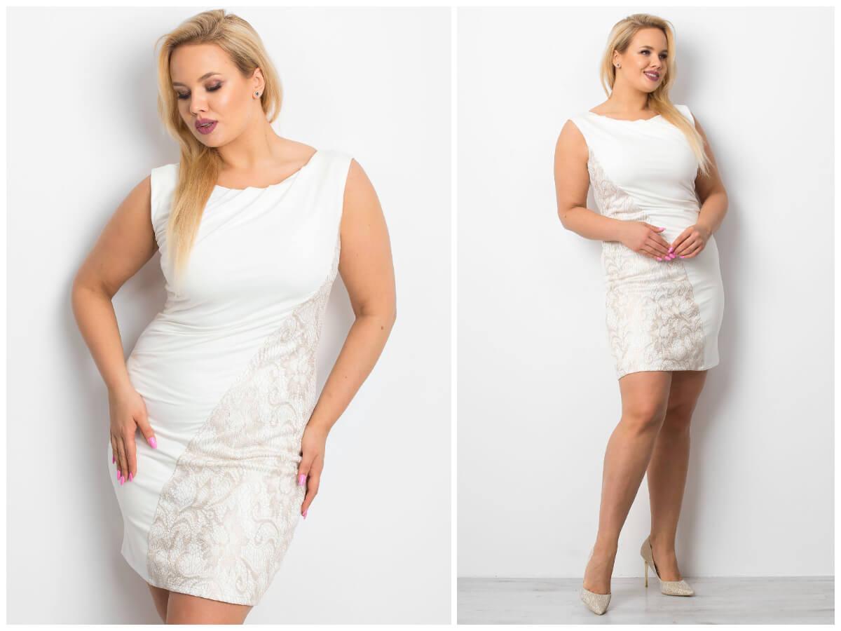 elegancka sukienka plus size z koronką ze sklepu ebutik.pl