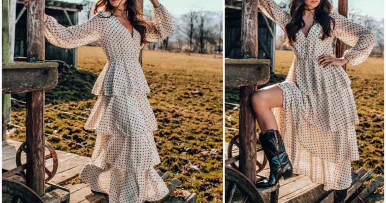 Sukienka z falbanami – kto może ją nosić?