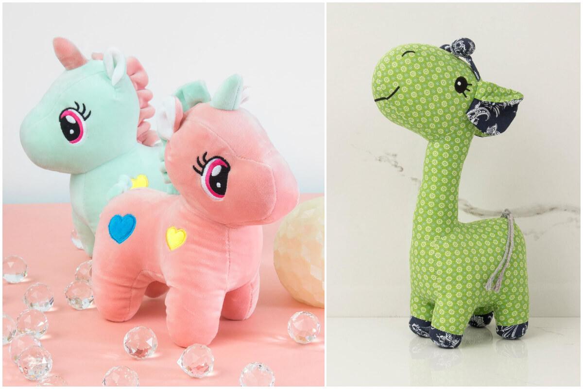 Pluszaki w kształcie zwierząt ze sklepu ebutik.pl sprawdzą się jako prezenty na dzień dziecka