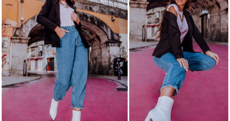 Spodnie mom jeans – jak wyglądają i z czym je nosić?