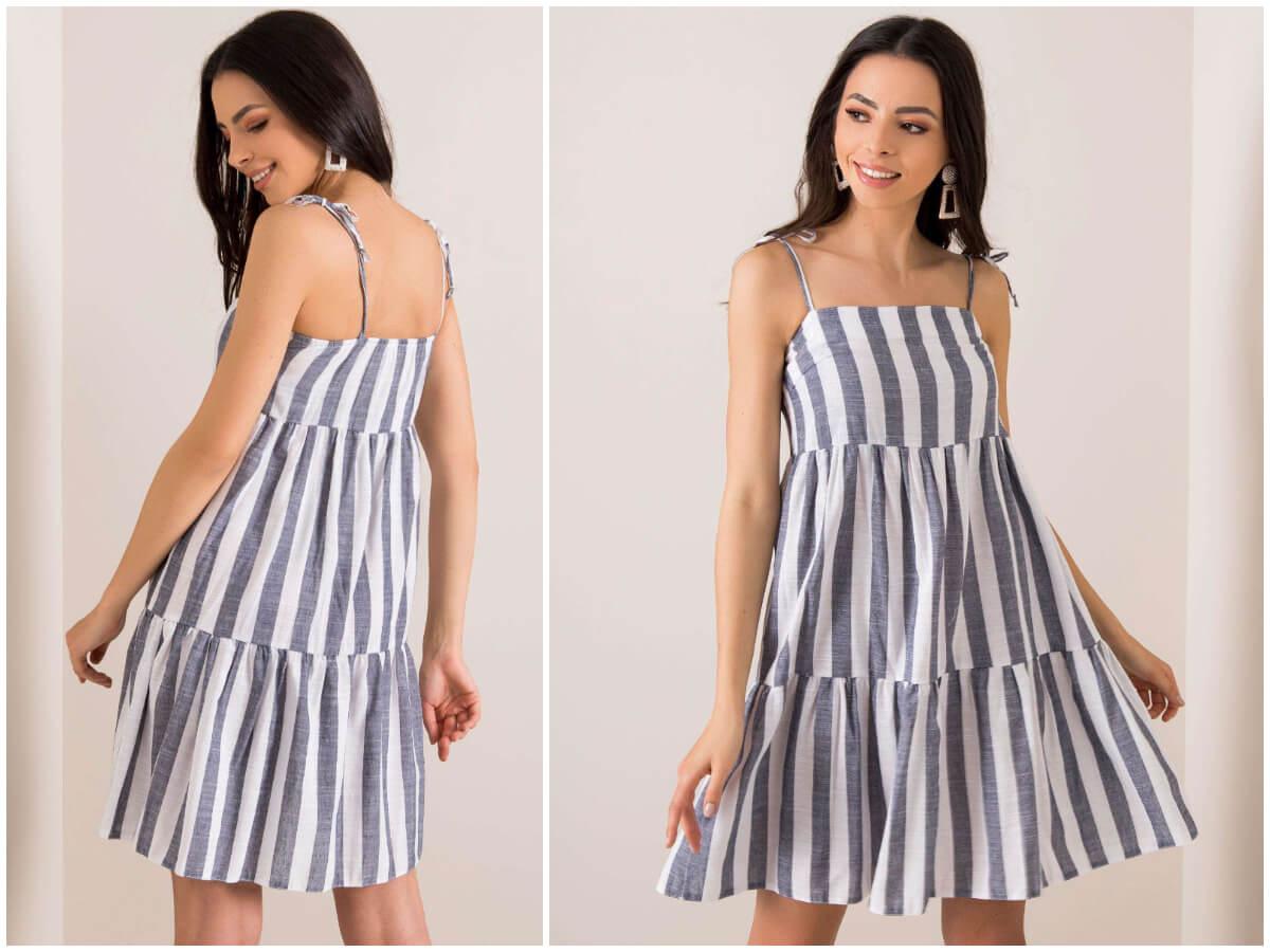 Modna sukienka w paski w stylu marynarskim ze sklepu ebutik.pl