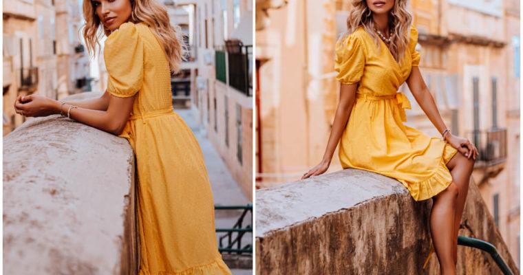 Kolor żółty w stylizacjach – outfit idealny na lato