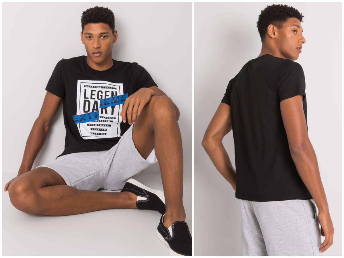 Ciemnoskóry modne t-shirty męskie z nadrukami