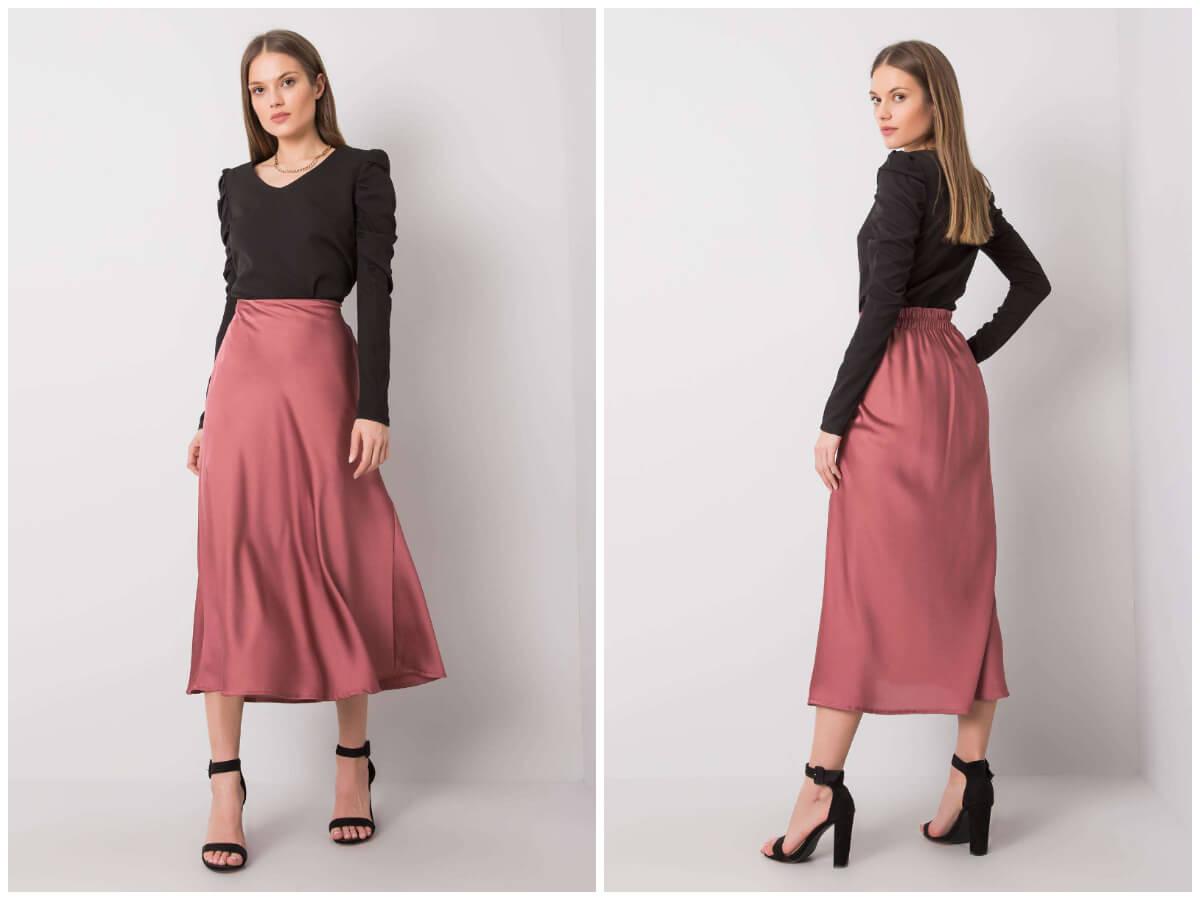 Satynowe spódnice midi w stylizacjach codziennych – z czym je łączyć?