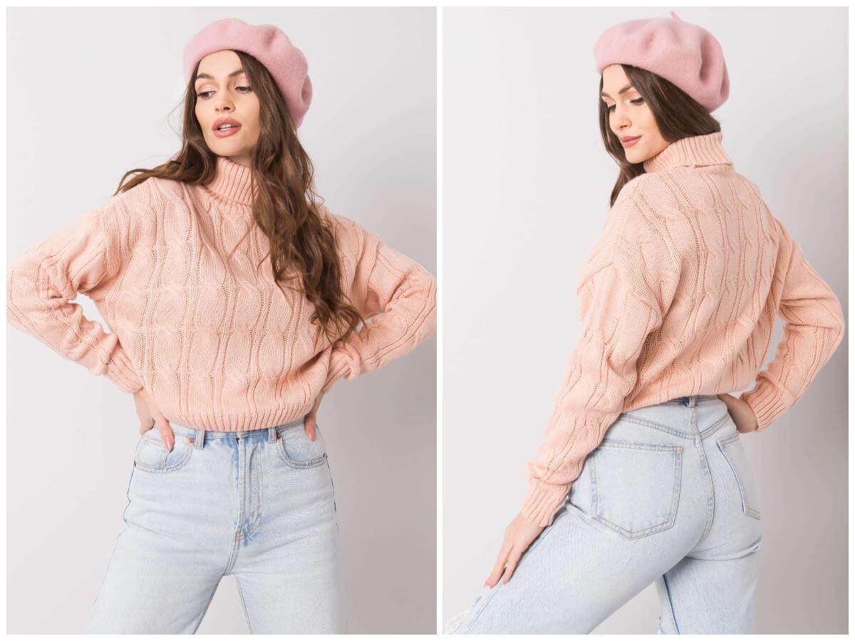 Krótkie swetry w pastelowych kolorach na jesień