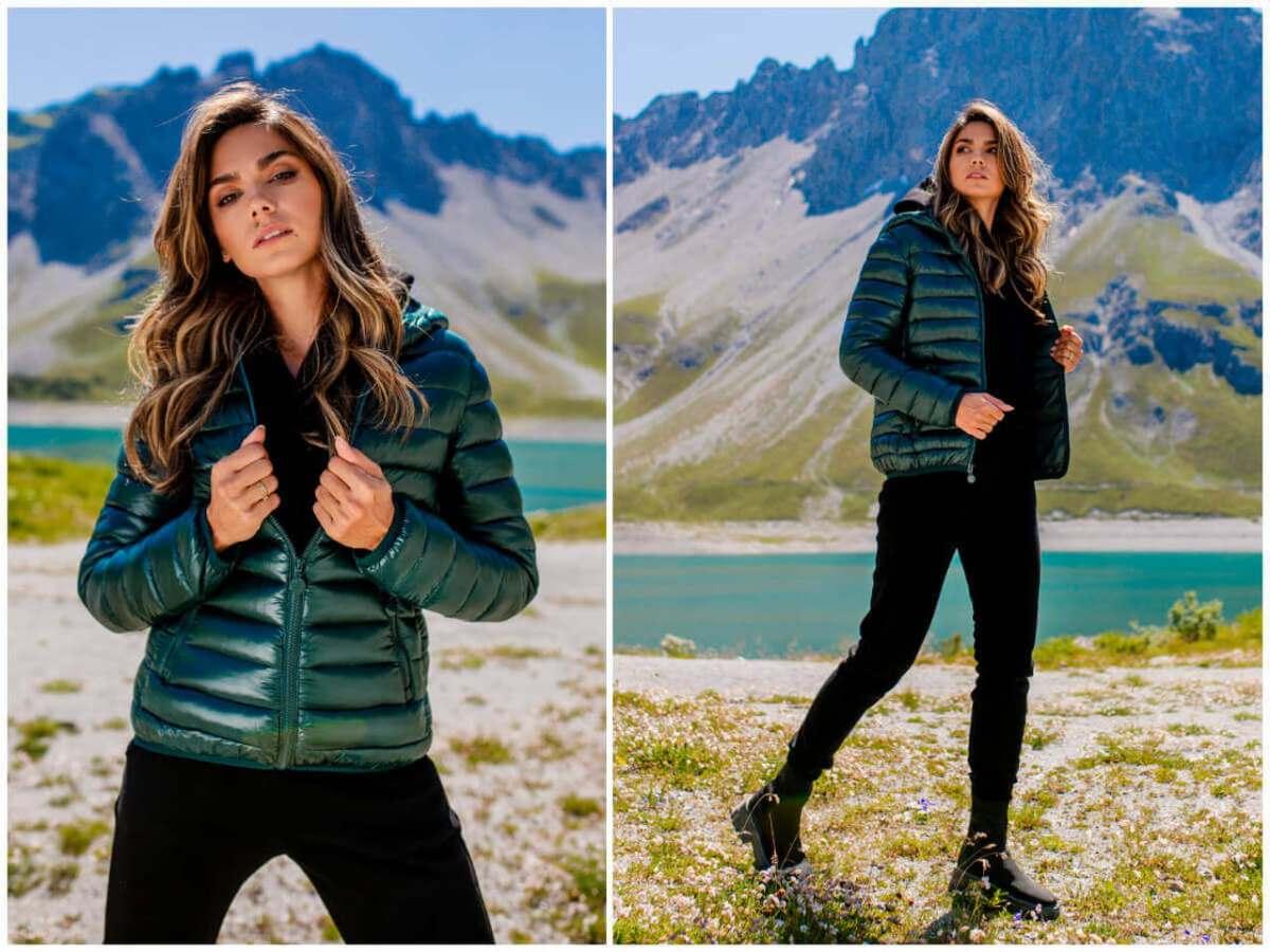 Damskie pikowane kurtki przejściowe są modne jesienią