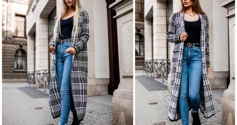 Długie rozpinane swetry – modny hit jesieni