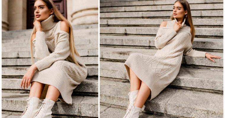 Sukienki z golfem na zimę – sposób na stylowy look